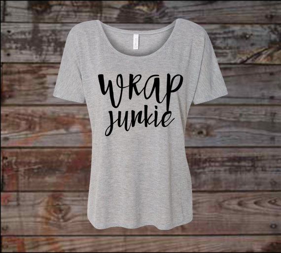 Wrap junkie slouchy shirt wrap junkie dolman shirt for Wrap style t shirts