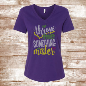 c63068691 Throw Me Something, Mister – Mardi Gras Bling Shirt – New Orleans – Mardi  Gras – Let The Good Times Roll – Parade Shirt – Beads – Hey Mister
