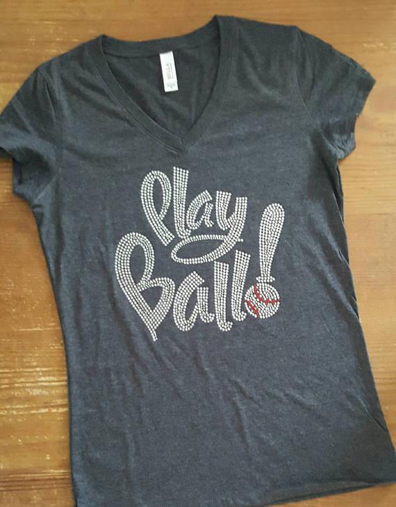 c0519f7fee61d Baseball Bling Shirt - Play Ball - Umpire - Baseball Bling ...